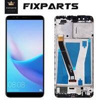 Pantalla LCD Original para Huawei Y9 2018, Digitalizador de pantalla táctil de pantalla LCD para Huawei Y9 2018, con marco FLA-L22 LX2 LX3 FLA-LX1
