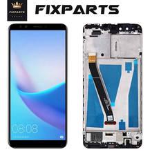 Orijinal LCD Huawei Y9 2018 LCD ekran dokunmatik ekran Digitizer için Huawei Y9 2018 ekran çerçeve ile FLA-L22 LX2 LX3 FLA-LX1