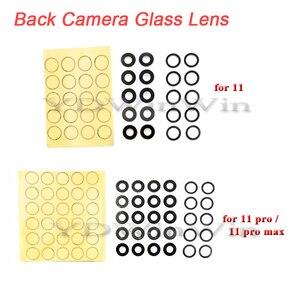 10 шт. задний тыловой объектив камеры для iPhone 7 8 Plus X XS max XR 11 Pro стеклянная крышка с 3M наклейкой клей запасные части