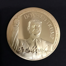 New 2019 Trump President COINS Collectible Gift Metal Coin Art Collection Physical Gold Commemorative Coins Bedge drop shipping