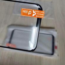 5 adet 2 in 1 ön dış cam ile OCA Film samsung için yedek Galaxy S10 S8 S9 artı not 10 8 9 LCD dokunmatik Panel cam Lens