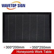 WaveTopSign 300*200มม.350*250มม.เลเซอร์รังผึ้งทำงานตารางแพลตฟอร์มเลเซอร์สำหรับCO2เลเซอร์เครื่องแกะสลัก