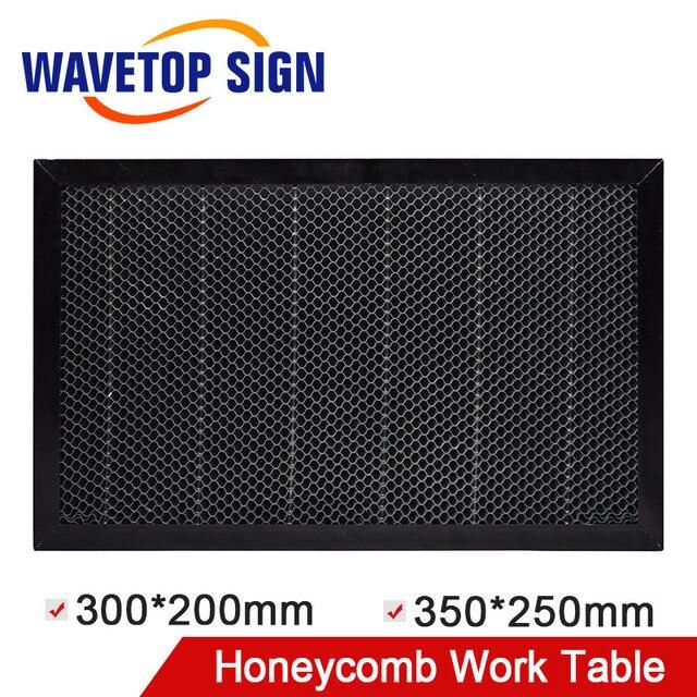 WaveTopSign 300*200mm 350*250mm Laser nid dabeille Table de travail plate forme Laser pièces pour CO2 Laser graveur découpeuse