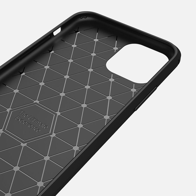 Image 3 - Silicone Soft Case for iPhone X XR XS 11 Pro max Case Carbon Fibre For iPhone 6 6s 7 8 plus Brushed Cover