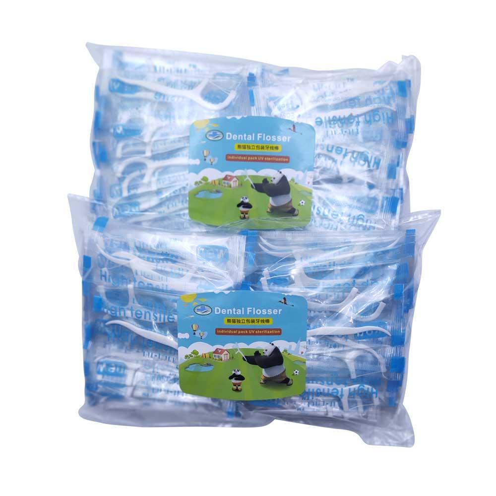 Зубная нить Panda, УФ-стерилизация, индивидуальная упаковка, 300 шт., супертонкие зубочистки