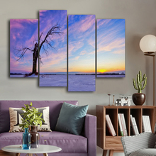 Laeacco Sunset Clouds Sky Trees Canvas Painting Calligraphy Poster And Prints Living Room Wall Decor Art Home Decoration Picture