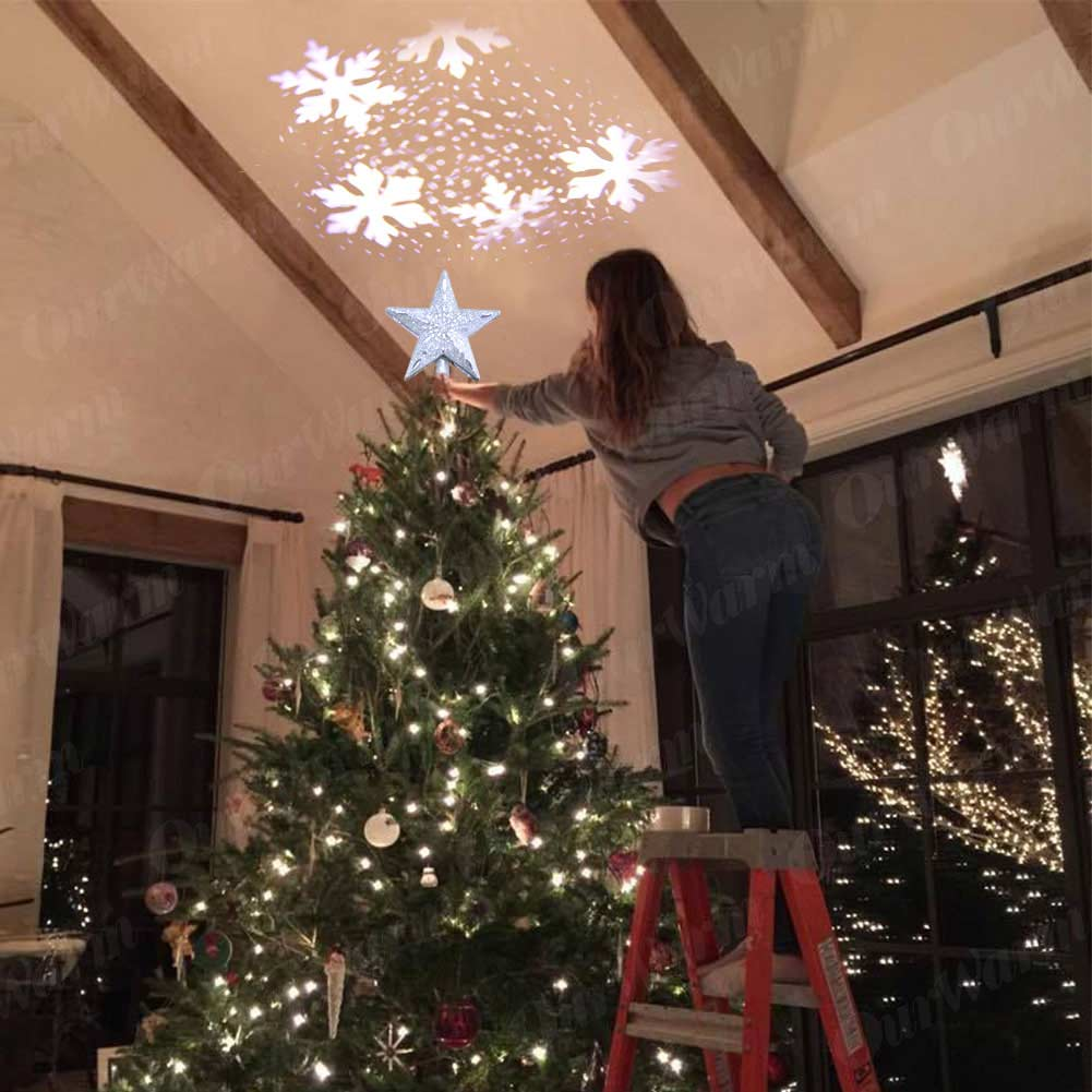 Projection Star Christmas Tree Topper 7