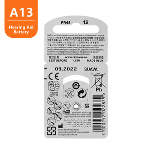 Image 4 - 60 Pieces Rayovac Peak Zinc Air Hearing Aid Batteries 13A  A13 13A 13 P13 PR48 Battery for BTE Hearing aids
