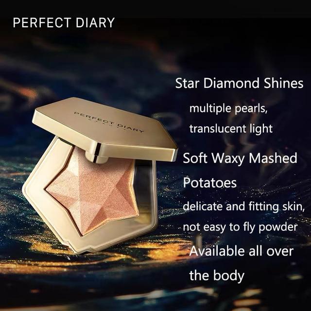 Parfait journal Starlight surligneur diamant Contour puissance Palette nez ombre miroitant lumière Champagne beauté longue durée