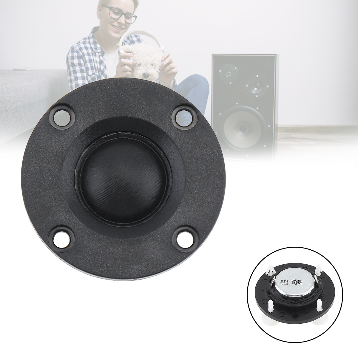2 Inch 10W 20 Core Dome Membrane Portable Tweeter Speaker Unit Full Frequency DIY Soundbox Loudspeaker  For Amplification