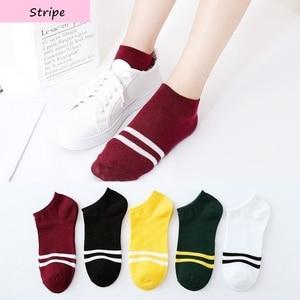 Image 1 - 7 pares seamle Mulheres meias Primavera novo estilo meias Barco meias finas No Tornozelo Confortável Meias mulheres meias Engraçadas kawaiisock para mulheres