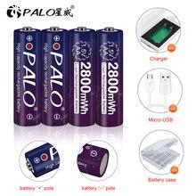 Palo 2800mwh 15В aa аккумулятор литий полимерный ионный + usb