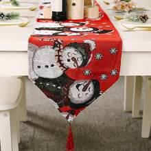 Очень длинный Рождественский Снеговик украшение для стола обеденный