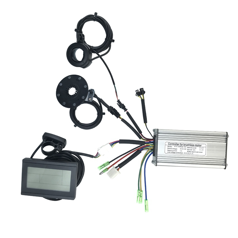 36V 48V 500W 22A Electric Bicycle Sine Wave Controller with KT LCD3 Display&Thumb Throttle and Sensor Ebike Accessories