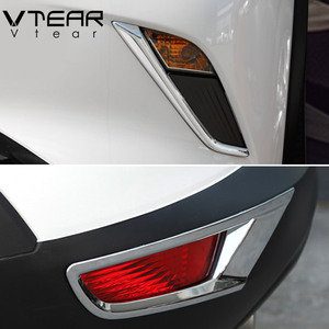 Vtear For Mazda CX-3 CX3 2018 2019 2020 accessories Front Rear fog lights cover frame trim ABS Chrome Exterior decoration(China)
