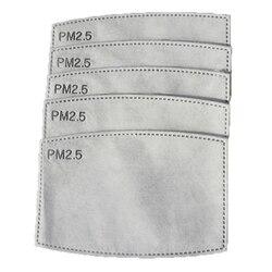 10 sztuk 5 warstwy PM2.5 filtr z węglem aktywnym pyłoszczelna maski na usta i opieki dla części do oczyszczania powietrza