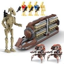 Estrela novas guerras moc b1 batalha droid destroyer droid droideka figuras espaço plano 75000 blocos de construção tijolos brinquedos presentes natal