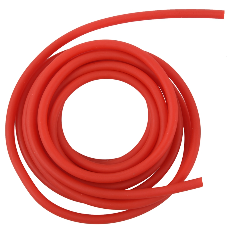 Tubing Exercise Rubber Resistance Band Catapult Dub Slingshot Elastic, Red 2.5M