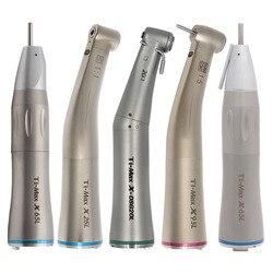 Straight Contra Angle Ti-Max X25/LX65/LX95L Style Dental Fiber Optic Contra Angle Low Speed Handpiece 1:1/1:5/20:1 Air Turbine