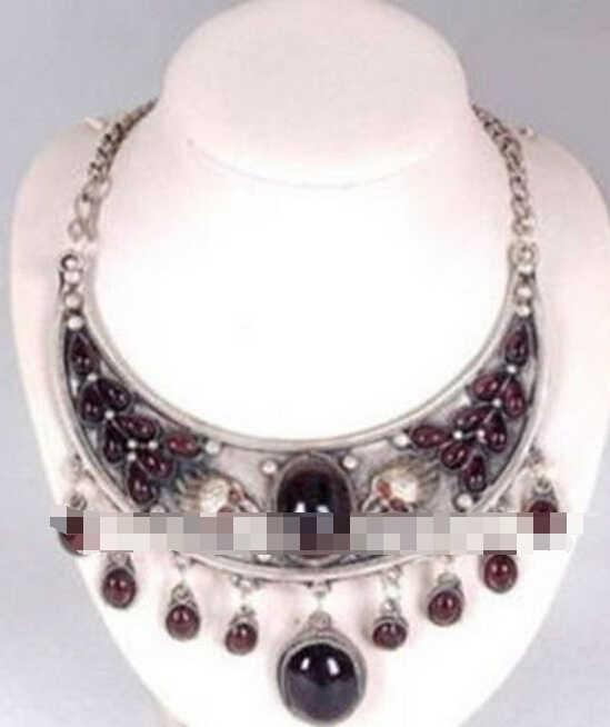 1008+++Beautiful Tibet jewelry Dragon garnet necklace Pendant