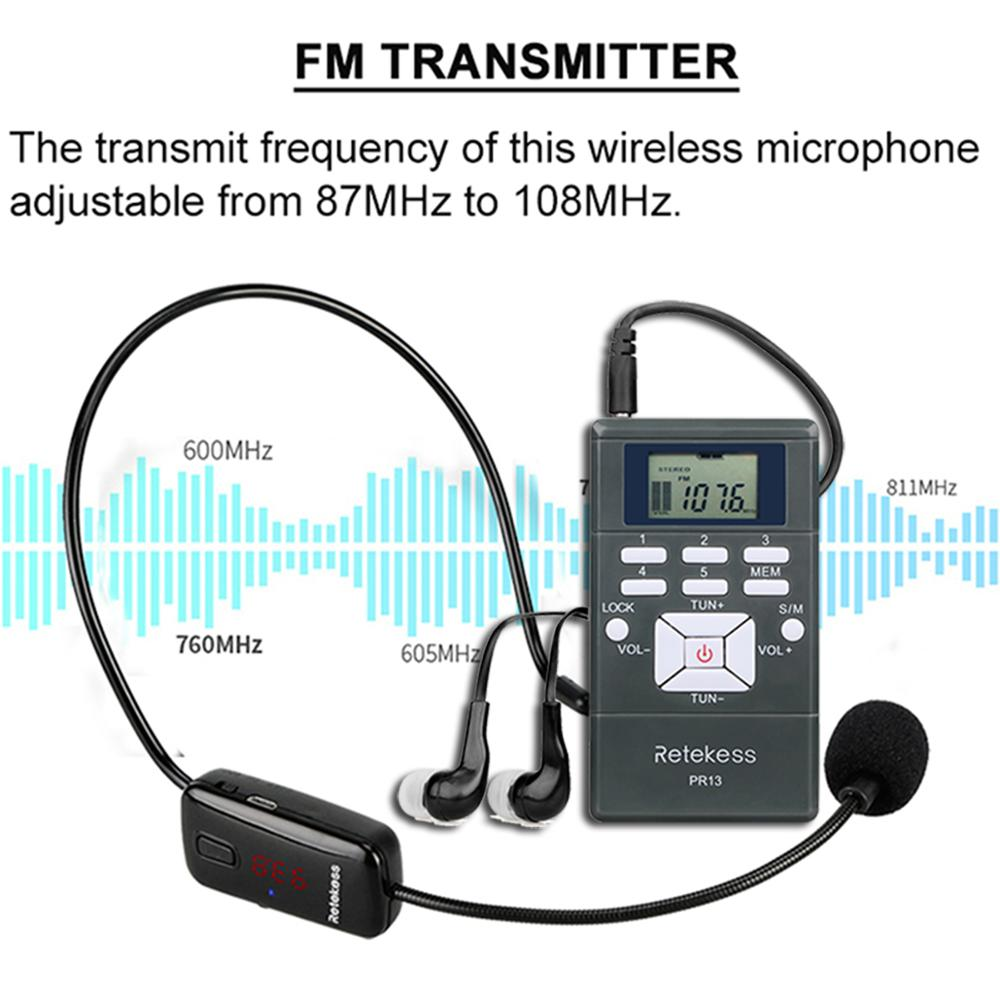 Image 2 - RETEKESS Wireless Audio Microphone Tour Guide System Language Interpretation System For Church Meeting Museum Tour Guiding-in Microphones from Consumer Electronics