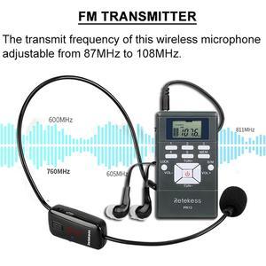 Image 2 - RETEKESS kablosuz ses mikrofon tur rehberi sistemi dil yorumlama sistemi kilise toplantı müze tur rehberi