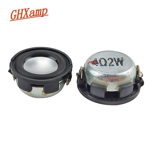 GHXAMP 1 inç tam aralıklı hoparlör sütun 4ohm 2w Bluetooth hoparlör DIY Mini Tweeter orta bas manyetik alt hoparlör 2 adet