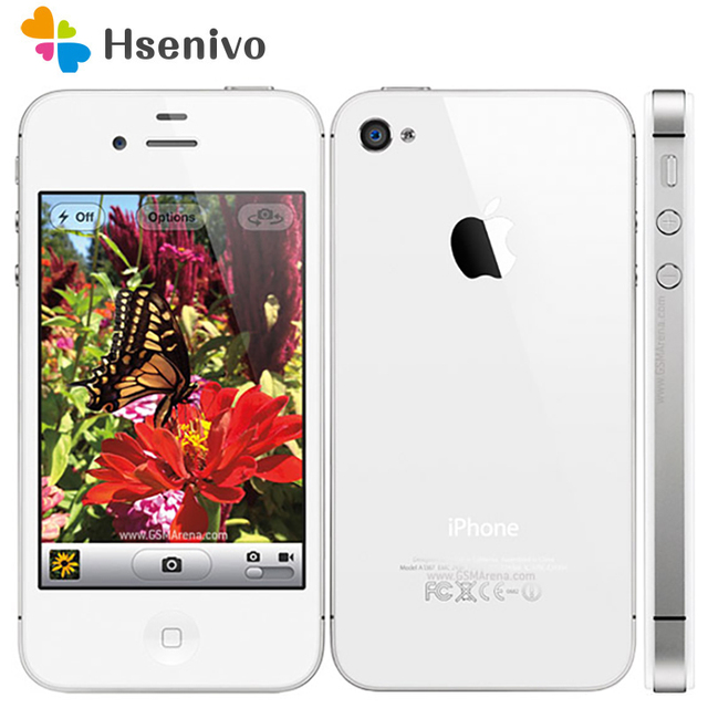IPhone 4S Original Fabrik Entsperrt Apple iPhone 4S IOS Dual Core 8MP WIFI WCDMA Mobile handy TouchScreen iCloud telefon