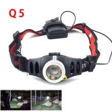 Масштабируемый светодиодный налобный фонарь q5 с аккумулятором
