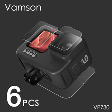 Vamson for Gopro Hero 9 Black Tempered Glass Screen Protector Lens Protective Film for Go pro 9 Camera Accessories VP730