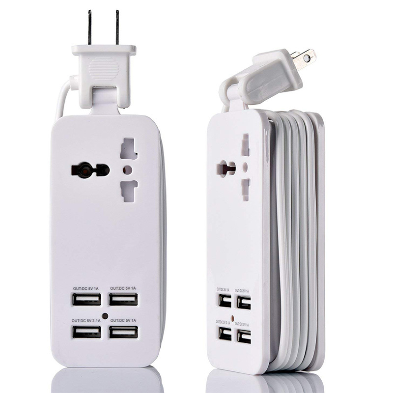 Cross Border for Smart USB Patch Board US Standard Socket with 4 USB Charging Outlet Strips Office Travel Multi Purpose|Floppy Drives|Computer & Office - title=