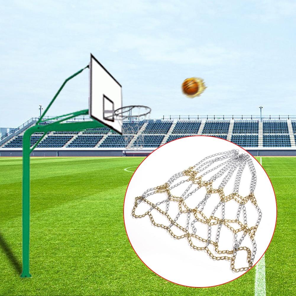 Galvanized Steel Durable Games Training Indoor Standard Hoop Heavy Duty Universal Sports Chain Goal Outdoor Basketball Net