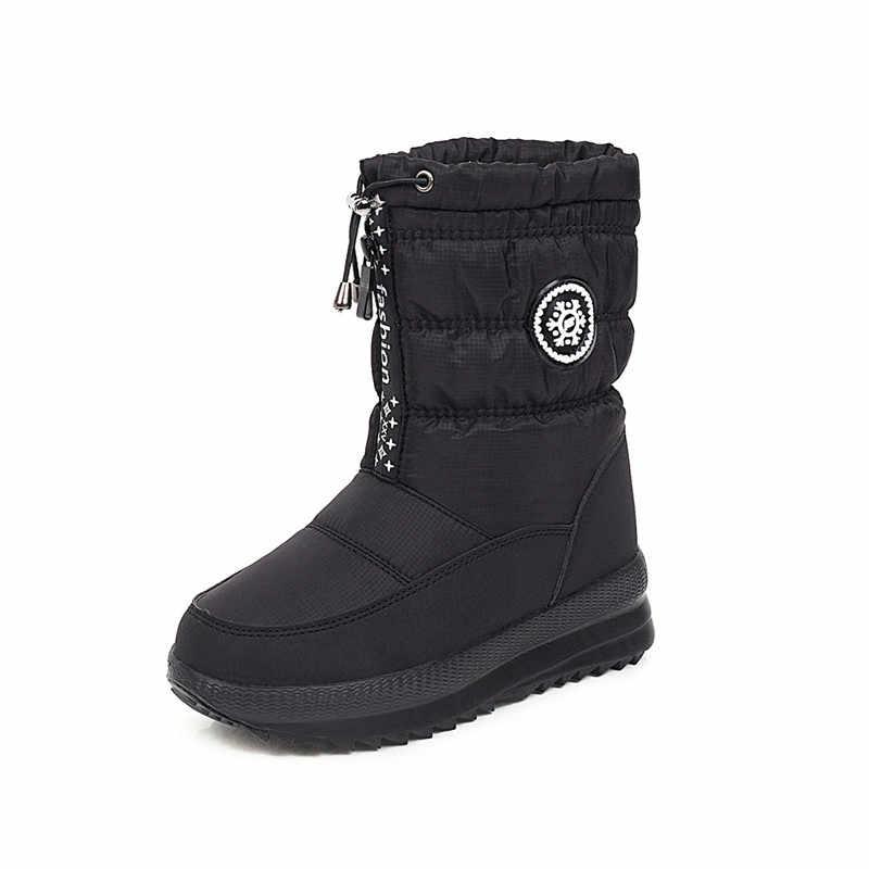 ASUMER 2020 yeni varış kış aşağı kar botları sıcak kalın kürk zip düz platform ayakkabılar rahat rahat yarım çizmeler kadın