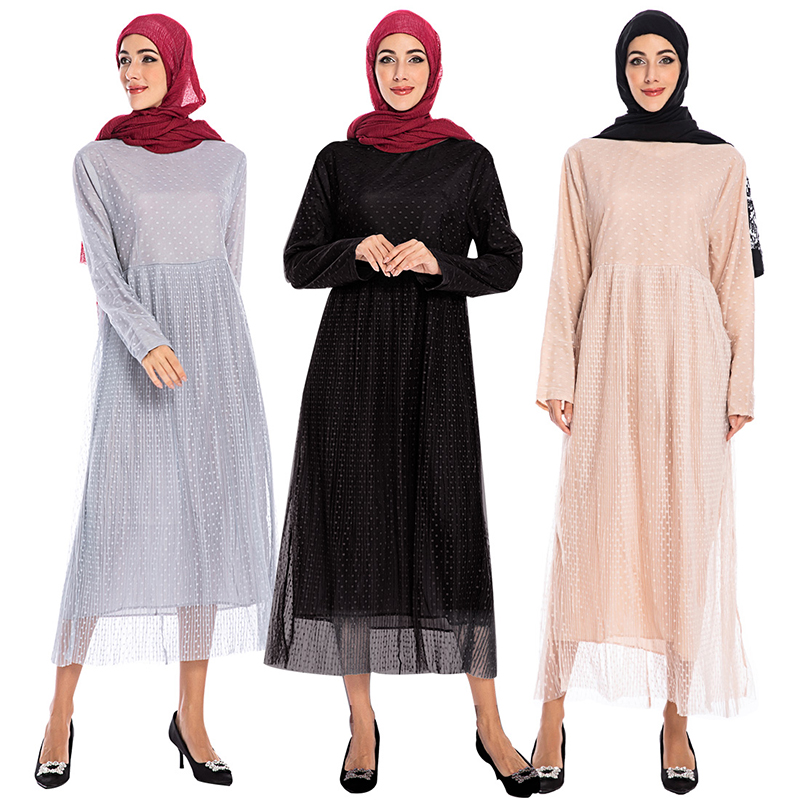 Polka Dot Abaya Dubai Hijab Muslim Dress Islam Clothing Abayas For Women Turkish Dresses Robe Caftan Kaftan Tesettur Elbise Ropa