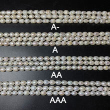 Natural Freshwater Pearl White Pink Purple A/AA/AAA Rice Shape Beads For Jewelry Making DIY Bracelet Necklace 4/5/6/8/9/10 MM