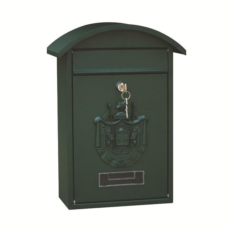 Vintage Pastoral Outdoor Iron Mailbox Lockable Wall Mounted Post Box Key Mailbox Rainproof Letterbox Garden Decor Supplies