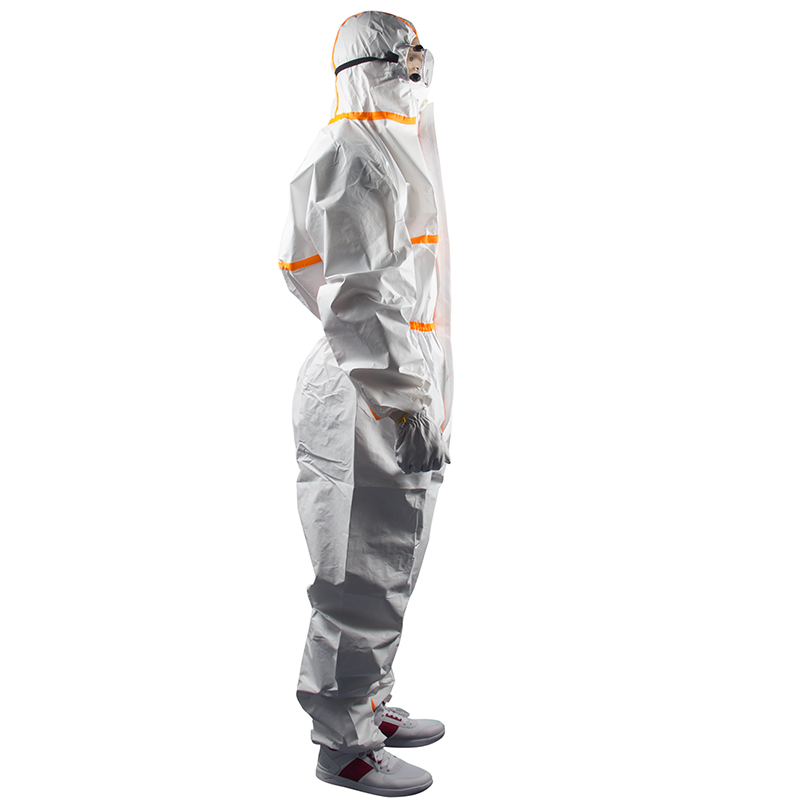 White Worker Uniform Men Disposable Cleaning Service Isolation Overalls Worker Jumpsuit Sterile Safety Work Wear Safety Clothing