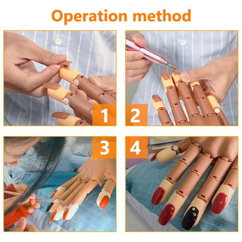 mão flexível reutilizável dobrável dedo com pontas