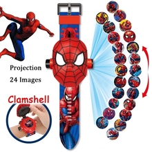 Child Toy Watch Alarm-Clock Spiderman Mickey-Mouse Anime-Figure Hulk Marvel Animation