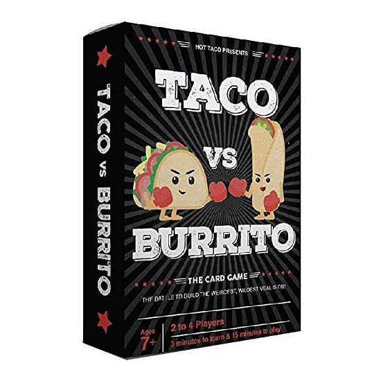 Taco Vs Burrito The Wildly Popular Surprisingly Strategic Card Game Created By 7 Year Old Board Toy Family Gathering Party Gift