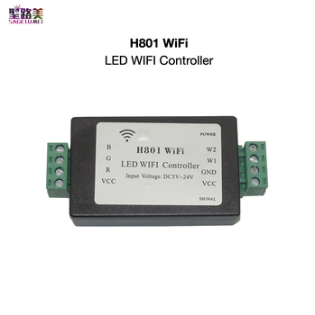 H801 RGBW LED WIFI Controller LED RGB Controller DC5-24V Input 5CH*4A Output For 5050 2835 3528 SMD Led Strip Light Tape Ribbon