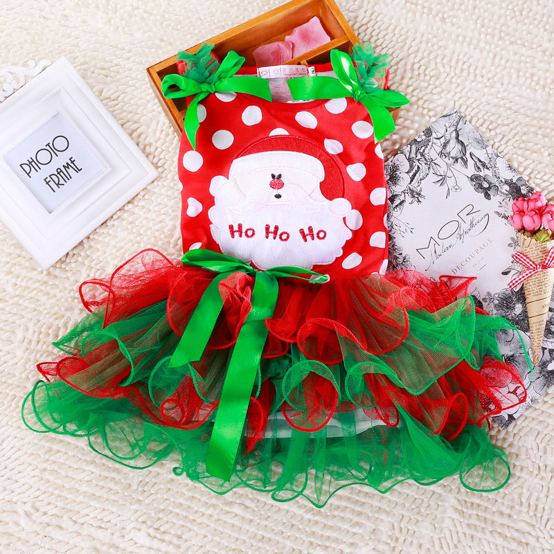 H17af038769544555a0ec9732b91e87f1d 2-6T Santa Claus Christmas Dress Kids Party New Year Costume Winter Snowman Baby Girl Clothes Christmas Tree Children Clothing