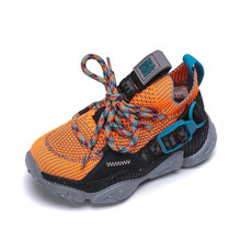 Kids Shoes For Boys Girl Children Casual Sneakers Baby Air Mesh Breathable Soft Running Sports Pink Black Yellow