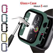 Закаленное стекло duoteng + чехол для apple watch 44 мм 42 40