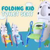Baby Potty Training Seat Child Potty Toilet Baby Toilet Seat With Adjustable Ladder Infant Toilet Training Folding Seat