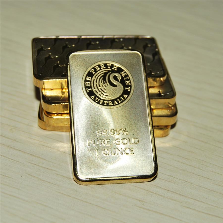 1 OZ Gold Bar Series The Perth Mint Bullion Bar Australia Copy Bar Green Black & Blister Quality Hot Sale Business Gift
