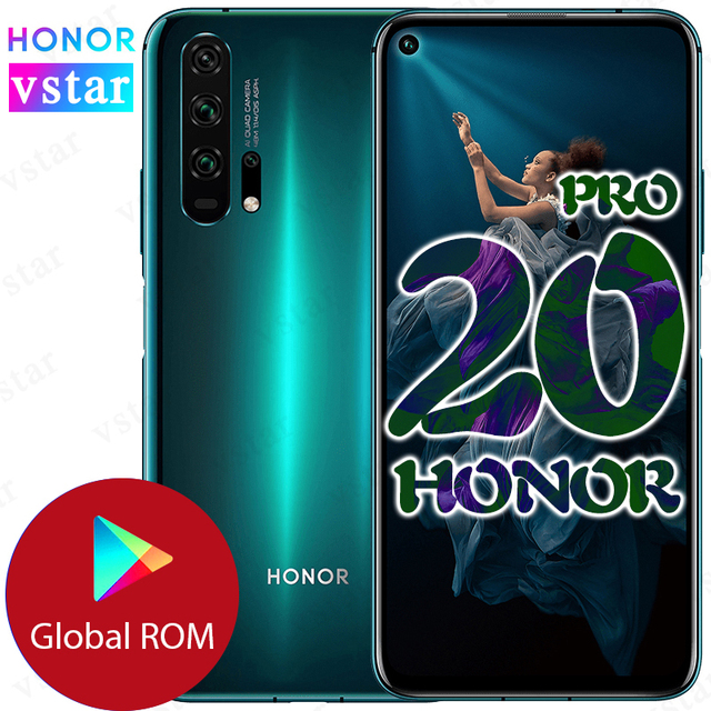 Global firmware Original HONOR 20 PRO SmartPhone 6.26 inch 8GB 128GB Kirin 980 Octa Core Android 9.0 Support Google play NFC