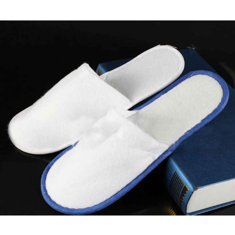 1 זוג ילדים ומבוגרים מלון נסיעות ספא חד פעמי נעלי בית בית הארחה לבן נעלי ילדי חד פעמי נעלי בית
