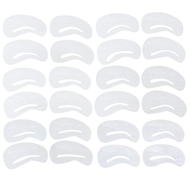 24 pieces 6 Sets Eyebrow Stencil Eyebrow Care design template makeup beauty tool