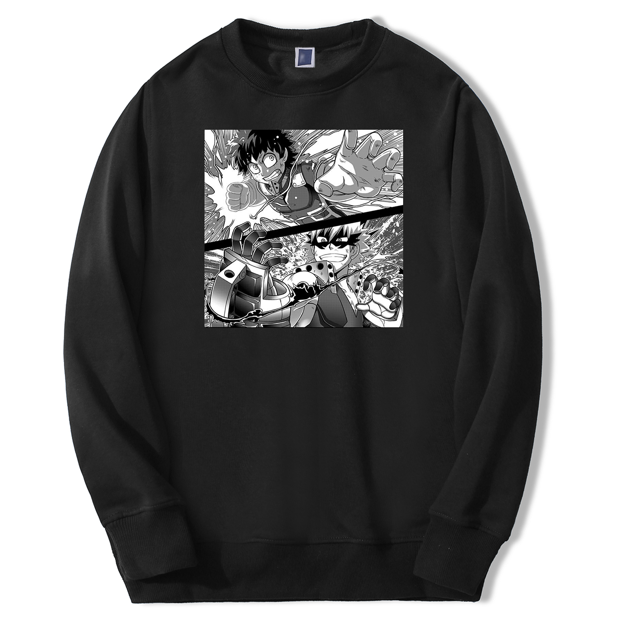 My Hero Academia Men Deku VS Bakugou Sweatshirts Hoodie Fleece Harajuku Streetwear Crewneck Spring Autumn Japan Anime Sweatshirt